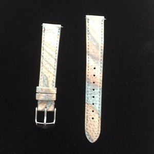 Michele brand new size 16 leather band